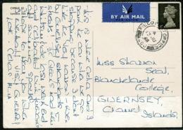 Ref 1301 - 1968 Larnaca Cyprus Postcard To Guernsey - GB Field Post Office 260 FPO 260 - Zypern