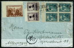 Ref 1301 - Greece Cover - Athens To Berlin  Germany - Currency Control Mark - Covers & Documents