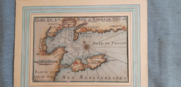 Carte De La Rade De Toulon Vers 1720 Par Starck Man - Zeekaarten