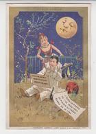 BO  / Chromos Doré.enfants.pierrot.au Clair De La Lune.minot.au Bon Marché.publicité. 8 X 12 Cm ( 1/6) - Au Bon Marché