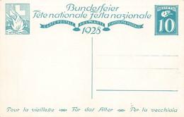 Suisse Entier Postal 1928 Fete  Nationale Pour La Vieillesse Bundesfeier Fur Das Alter Illustration Illustrateur Beurman - Entiers Postaux