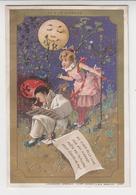 BO  / Chromos Doré.enfants.pierrot.au Clair De La Lune.minot.au Bon Marché.publicité. 8 X 12 Cm ( 2/6) - Au Bon Marché