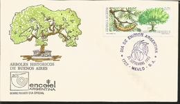 J) 1993 ARGENTINA, HISTORICAL TREES OF BUENOS AIRES, ALGARROBO DE PUEYREDON, FDC - Covers & Documents