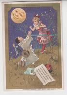 BO  / Chromos Doré.enfants.pierrot.au Clair De La Lune.minot.au Bon Marché.publicité. 8 X 12 Cm ( 3/6) - Au Bon Marché