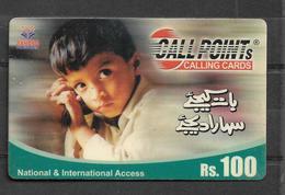 PAKISTAN USED PHONECARD RS 100 - Pakistan