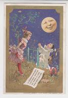 BO  / Chromos Doré.enfants.pierrot.au Clair De La Lune.minot.au Bon Marché.publicité. 8 X 12 Cm ( 4/6) - Au Bon Marché