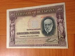 50 Pesetas 22/07/1935  SUPERBE ETAT  (port Offert ) - [ 2] 1931-1936 : Repubblica