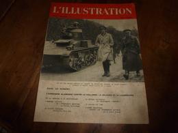 1940 L'ILLUSTRATION :Roi Des Belges;Allemagne Attaque :Hollande-Belgique-Luxembourg ; Exploits Du Sous-marin Orphée; Etc - Journaux - Quotidiens