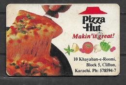 PAKISTAN USED PHONECARD 30 UNITS PIZZA HUT - Pakistan