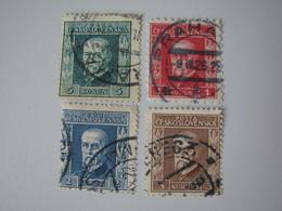 Tschechoslowakei   224 - 227 O - Oblitérés