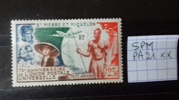 SAINT PIERRE ET MIQUELON  UPU - Unused Stamps