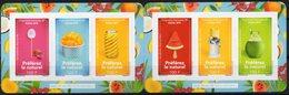 Polynésie Française 2019 - Campagne Anti-sucre, Fruits - Carnet 6 Val Neuf // Mnh - Polynésie Française