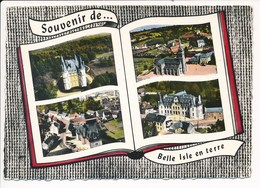 Carte ( Format 15 X 10,5 Cm ) BELLE ISLE EN TERRE Multivues En Livre  ( Recto Verso ) - France
