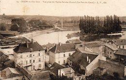 DIJON 21, VUE D'EN HAUT, VUE PRISE DE L'EGLISE SAINTE-CHANTAL, LE PORT DU CANAL - Dijon