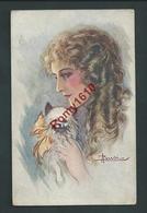 BUSI. Jolie Femme Et Petit Chien.  1921.   2 Scans. - Other Illustrators