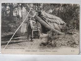 Cabane Et Pêcheur Landais - Unclassified