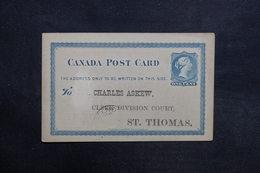 CANADA - Entier Postal Commerciale De St Thomas En 1883 - L 31576 - 1860-1899 Regering Van Victoria