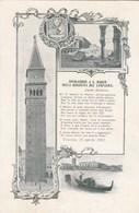 VENEZIA-INVOCAZIONE A SAN MARCO NELLA RINASCITA DEL CAMPANILE-BELLA CARTOLINA NON VIAGGIATA ANNO 1912 - Venezia (Venedig)