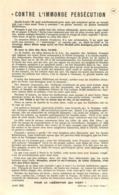 CONTRE L'IMMONDE PERSECUTION  RESISTANCE  AOUT 1942 - 1939-45
