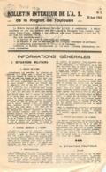 BULLETIN INTERIEUR DE L'A.S. DE LA REGION DE TOULOUSE  RESISTANCE   1943 - 1939-45