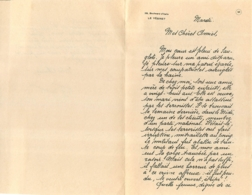 LETTRE D'UNE FEMME  RESISTANCE   1943 - 1939-45