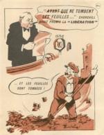 AVANT QUE NE TOMBENT LES FEUILLES CHURCHILL AVAIT PROMIS LA LIBERATION  RESISTANCE - 1939-45