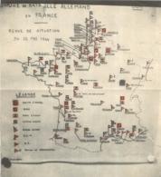 L'HUMANITE 1944 LA  ORDRE DE BATAILLE ALLEMAND  EN FRANCE SITUATION AU 12 MAI 1944 - 1939-45
