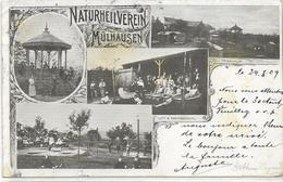 68 MULHOUSE . Naturheilverein En 5  Clichés ,  édit : , écrite En 1903 , état Bon , Petit Pli - Mulhouse