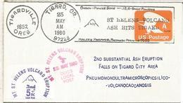 ESTADOS UNIDOS USA 1980 VOLCAN SANTA HELENA VOLCANO GEOLOGIA - Volcanes