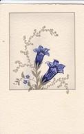 AK Enzian - Künstlerkarte (41693) - Blumen