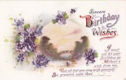 AQ31 Greetings - Sincere Birthday Wishes - Flowers, Bridge - Birthday