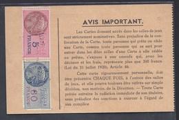 1954 CASINO DE NIEDERBRONN LES BAINS BACCARA ROULETTE JEUX FISCAUX REVENUE STEUER - Cartes à Jouer