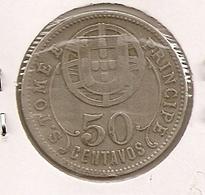 SAO TOME PRINCIPE SAINT THOMAS AND PRINCE $50 CENTAVOS 1929 - Sao Tome And Principe