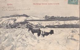 RPPC REAL PHOTO POSTCARD BRIDGE QUEBEC TO LEVIS 1906 - Levis
