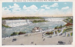 AR29 General View Of Falls From Victoria Park, Niagara Falls - Vintage Cars - Niagara Falls
