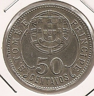 SAO TOME PRINCIPE SAINT THOMAS AND PRINCE $50 CENTAVOS 1929 DIFICILLE DANS CETTE ETAT - Santo Tomé Y Príncipe