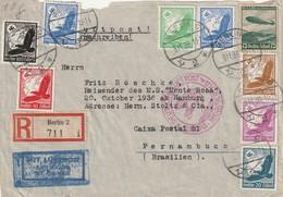 Lettre De Berlin Vers Pernambuco (Brésil) -  DEUTSCHE LUFTPOST EUROPA-SÜDAMERIKA -  1936 - Allemagne