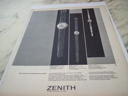 ANCIENNE PUBLICITE PLUS CHERE PRECIEUSE PLUS PRECISE MONTRE ZENITH 1961 - Joyas & Relojería