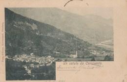 CERCIVENTO-UDINE-UN SALUTO-CARTOLINA VIAGGIATA IL 23-8-1900 - Udine