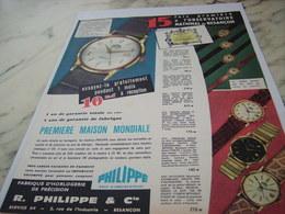 ANCIENNE PUBLICITE  MONTRE PHILIPPE DE BESANCON 1961 - Joyas & Relojería
