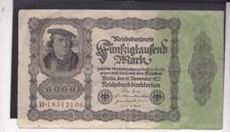Reichsbanknote 50 Duizend Mark, Derde Rijk - [ 3] 1918-1933 : Weimar Republic