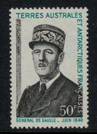 T.A.A.F. // 1972 // Timbre No. 46  Y&T Neuf** MNH, 1er Anniversaire De La Mort Du Général De Gaulle - Terres Australes Et Antarctiques Françaises (TAAF)