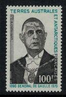 T.A.A.F. // 1972 // Timbre No. 47  Y&T Neuf** MNH, 1er Anniversaire De La Mort Du Général De Gaulle - Terres Australes Et Antarctiques Françaises (TAAF)