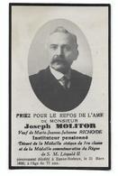 Souvenir J. Molitor Instituteur Basse-Bodeux (Trois-Ponts) - Overlijden