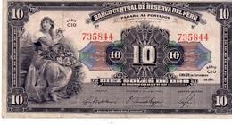 Peru P.87 10 Soles 1941 Vf - Pérou