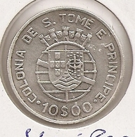 SAO TOME PRINCIPE SAINT THOMAS AND PRINCE 10$ ESCUDOS 1939 SILVER 12,5G*835 AG RARE - Sao Tome And Principe