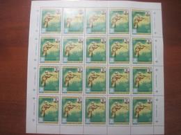 Aden Kathiri State Of Seiyun 1967 World Jamboree  Sheet Of 20 MNH - Stamps