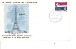 Révolution Française ( FDC Du SriLanka De 1989 à Voir) - Franz. Revolution