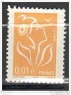 2005 Marianne De Lamouche 0.01€  Type II ITVF N°YT 3731a - 2004-08 Marianne Of Lamouche