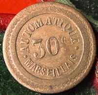 ANCIEN JETON MONETAIRE  30 C : COQ , AUTOMATIQUE MARSEILLAIS , - Professionnels / De Société